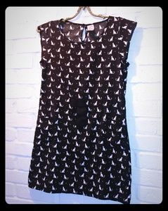 Kitty cat shift dress
